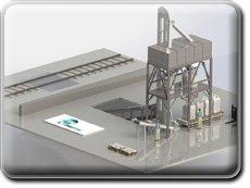 Комплекс по приему и фасовке минеральных удобрений из вагона